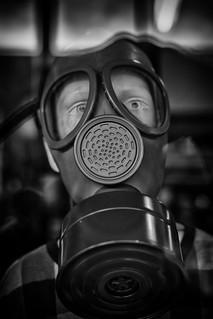gas mask boy