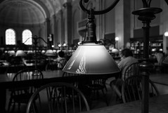 Untitled (Howard Yang Photography) Tags: library study lamp bostonpubliclibrary boston bw blackandwhite leicam8 leica 24mmelmar