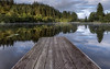 Loch Ard (raymond_carruthers) Tags: loch morning scotland trees trossachs pier nationalpark reflections lochard boathouse jetty lomondtrossachs water clouds
