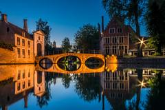 Magic blue hour (hjuengst) Tags: brügge brugge bruges bridge bluehour bluesky reflection reflektionen spiegelung beguinenhof beguinage belgium