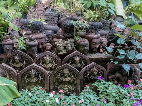 Imágenes de cerámica en el Jardín de Terracota, Chiang Mai, Tailandia