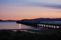 Sunset in Petone (gabrielfiuza) Tags: water ocean lights sky petone landscape pier deck travel nature wellington colors sea sunset newzealand