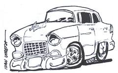 drawing car (ivanutrera) Tags: draw dibujo dibujoenplumón marcador dibujoenmarcador sketch sketching auto automóvil drawingcar coche