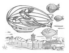 Mercury Moon Pies (rod1691) Tags: bw scifi grey concept custom car retro space hotrod drawing pencil h2 hb original story fantasy funny tale automotive art illistration greyscale moonpies sketch