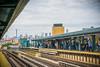 Downtown Platform (JMS2) Tags: mta subway commute people travel platform skyline bronx nyc tracks elevatedtrain irt4