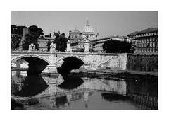 (idasalminen) Tags: stangelobridge rome italy bridge architecture reflection film filmphotography canoneos500n kodaktmax400
