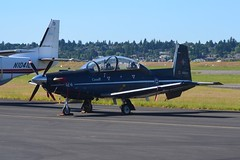 156124 (LAXSPOTTER97) Tags: 15 wing 2 canadian forces flying training school 156124 raytheon aircraft company ct156 harvard ii cn pf24 royal air force rcaf airport airplane aviation kpdx