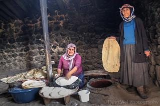 Women Making Naan Bread, Alem Village, Kars, Turkey