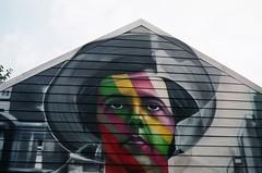 Alley Art & Beauty~~Vivian Maier by the incredible *Kobra (juliarholcomb) Tags: film lomography olympusom colornegative wickerpark chicago f2400 slr alley vivianmaier kobramural kobra streetart
