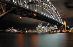 Sydney by night (Firmin_) Tags: sydney australie australia night nuit bridge pont opéra nikon d3000 18105 water architecture city ville
