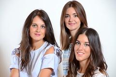 Silvia, Cristina y Laura. (eustoquio.molina) Tags: portrait studio estudio chicas girls woman women zaragoza aragón