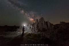Midnight Explorer On Mars (Mike Ver Sprill - Milky Way Mike) Tags: exploring mars mono lake california landscape nature light sphere learn tutorial milky way mike galaxy stars star michael versprill long exposure starry stacker ioptron tracker nikon d800 air glow astrophotography astronomy night sky dark skies tuffa south petrified petrofied rock formation midnight explorer