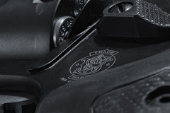 blackandwhite gun pistol revolver smith wesson bullets handgun airweight 442