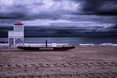 DSCF 6737 (fotoesperimenti) Tags: sea contrasto clouds storm rainy beach sand save boat alone fujifilm 35mm drama