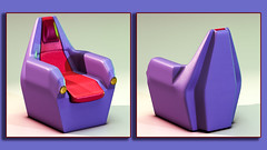 ChairD37f (Ke7dbx) Tags: furniture productdesign product design industrialdesign industrial rubber purple red cg cgi 3d computergraphics modo chair chairs designer artistic art arts