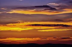 after sunset (ErrorByPixel) Tags: sky clouds sunset windturbines pentax k5 errorbypixel handheld 100mm mountains hills dark pentaxart negativespace