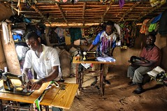 Village tailors in Liberia