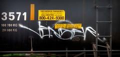 venser (timetomakethepasta) Tags: venser handstyle freight train graffiti art tanker benching selkirk new york photography