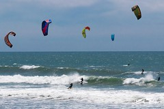 Windy Afternoon at Big Basin Beach (CDay DaytimeStudios w/1,000,000 views) Tags: bigbasinca california highway1 ocean oceanscape pacificcoast sailsurfing surfer water waves windsurfing