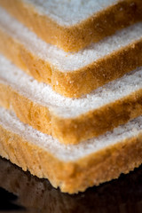 "Macro Monday ""bread"" (peterbaird100) Tags: macromondays bread nikond750 white crust stack reflection"