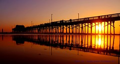 The Sun Is Almost Gone, The Lights Are Going On.... (law_keven) Tags: california newport newportbeachpier pier pacific ocean pacificocean water reflections silhouettes photography america usa us