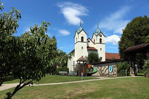 Auf dem Gelände des Schloss Böttstein