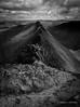 Striding Edge II (AdamJonMartin) Tags: cumbria lakedistrict uk mountain arete striding edge hiking climbing scramble bw mono clouds