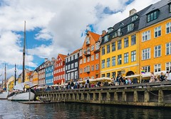 Nyhavn (borishots) Tags: nyhavn pattern copenhagen denmark scandinavia view buildings architecture stairs fence colors colorful streets street landscape urban exploration photography urbanism sony a7 alpha fe 28mm f2 wide angle yellow green orange aqua blue tower windows facade facades travel europe danske danmark københavn water boats red people walking clouds sky pastel boat sea sonya7 sonyfe28mmf2 urbanexploration urbanlandscape urbanphotography