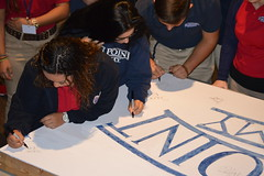 """Seniors Signing Inaugural Graduation Class Sign • <a style=""""font-size:0.8em;"""" href=""""http://www.flickr.com/photos/137360560@N02/36689295800/"""" target=""""_blank"""">View on Flickr</a>"""