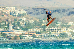 airtime (I was blind now I see!) Tags: kitesurfing kitesurfer action sports sea hotels water spray wavesscenery landscape