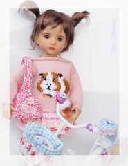 aaar (Maria Kłopotowska) Tags: bicycle bike sweater guinea pig pink littledarling effner intarsia needle felted
