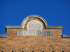 OH Fort Recovery - G F Wagner (scottamus) Tags: fortrecovery ohio mercercounty old building architecture detail gfwagner