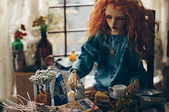 Breakfast III (AzureFantoccini) Tags: bjd doll dollhouse abjd balljointeddoll breakfast morning eva granado ozin5 emon room interior diorama