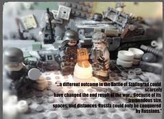 Battle for Stalingrad (MOC) (-=Spectre=-) Tags: coolphotos stalingrad t34 sdkfz10 germans lego stalin germany nazis ww2 world war 2 axis allies ii moc winter