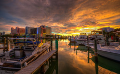 Clearwater Beach Sunset (ap0013) Tags: clearwater beach florida sunset water sun sky cloud beautiful hdr clewarwaterbeach clearwaterflorida harbor boat boating marina clearwatersunset clearwaterbeachfl
