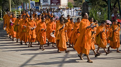 Cambodia - Buddhist Funeral Procession (doug-craig) Tags: cambodia countries siemreap asia culture travel stock nikon d7000 monks funerals journalism photojournalism dougcraigphotography