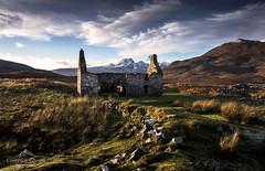 Nobody home. (lawrencecornell25) Tags: landscape scenery scotland skye isleofskye cillchriosd desertedvillage ruinedbuilding winter outdoors blaven blabheinn sunset nikond5