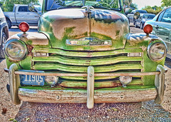 Two Tone Chevy (Helen Orozco) Tags: sliderssunday hss chevrolet photoshop topaz processed truck classic