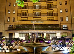 The stylish and classy Dorchester hotel in London (somabiswas) Tags: dorchester luxury hotel night lights fountain london unitedkingdom saariysqualitypictures d5600