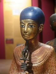Ptah (edenpictures) Tags: thediscoveryofkingtut tutankhamun stlouissciencecenter stlouis missouri museum god kingtutstomb tomboftutankhamun egyptian archeology egyptiandeity statuette ankh