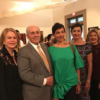 Susana Fontanals, Raul Valdes-Fauli Mayor of Coral Gables with wife Francia, Elizabeth Valdes-Fauli and art dealer Ninoska Huerta at the Coral Gables Museum.