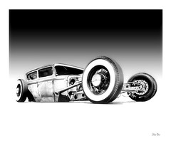 sky fall... (Stu Bo) Tags: certifiedcarcrazy canon coolcar car canonwarrior ride rebel ratrod radrod stance warrior wheels whitewalls wildrides carart beautiful blackandwhite bw bnw lookdown dreamcar sbimageworks shadows showcar sexonwheels monotone