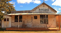 Stuart Town (Darren Schiller) Tags: abandoned australia architecture advertising building closed community derelict disused decaying deserted dilapidated empty facade history heritage kinkara newsouthwales old rural rustic rusted smalltown shop store stuarttown panorama