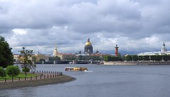 Russia (St.Petersburg)  Great view of city landmarks from the Neva River