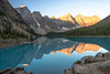 Sunrise At Moraine Lake (steveholding8) Tags: canada moraine lake morainelake mountains alberta sunrise dawn water steveholding banffnationalpark