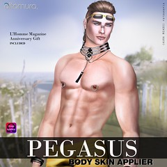 "Altamura ""PEGASUS"" 4 Light Skin Applier (Altamura Bento Avatar) Tags: altamura bento 100originalmesh pegasus skin light omega hme hipstermenevent darren albert alvin aaron avatar mesh maleshop head body fashion secondlife sl fitted applier"