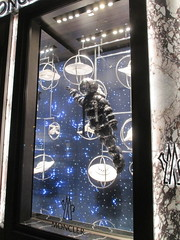 Lost In Space or Plan 9 From Outer Space Fashion 0353 (Brechtbug) Tags: lost in space fashion spaceman cosmonaut suit flying saucers store front display window department madison avenue nyc 2017 moncler near barneys new york city 09162017 bubble helmet russian astronaut man galaxy universe suits astro scifi science fiction stores halloween holiday clothes outfit flight orbital saucer above outer