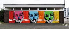 Our Lady of the Decoration (id-iom @ Cheltenham Paint Festival) (id-iom) Tags: idiom street art urban graffiti cheltenham gloucester university paint faestival muse muses woman face