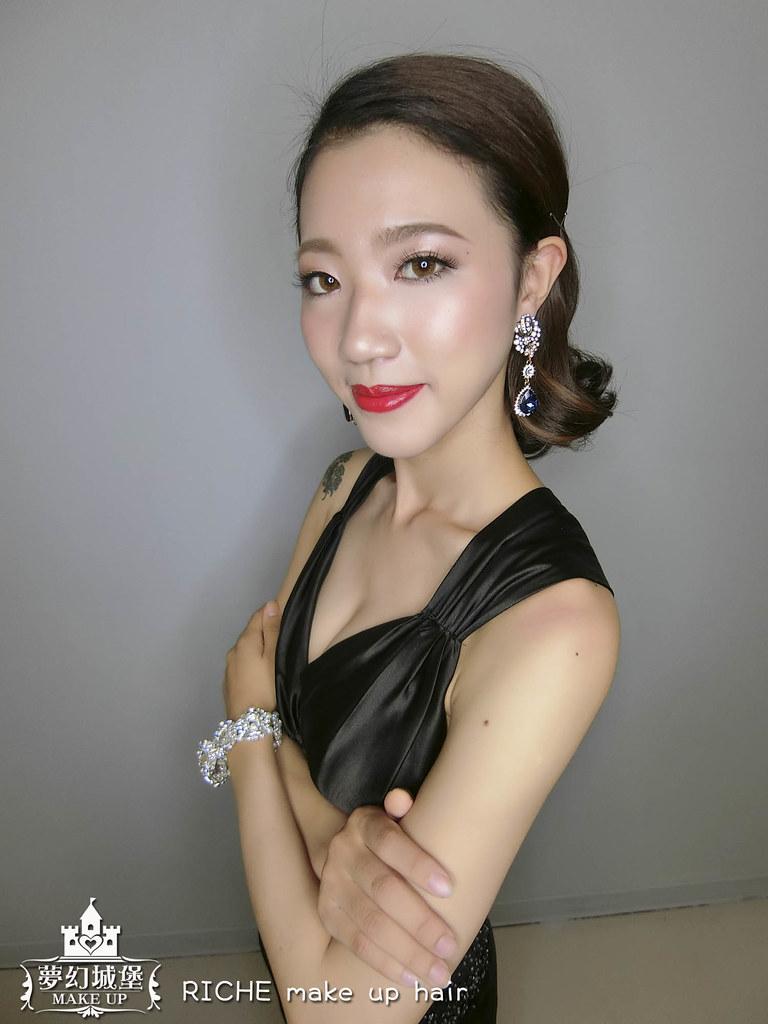 【新秘RICHE】新娘造型創作 / 短髮-歐式復古