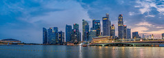 Singapore Blue Hour (Anthony Kernich Photo) Tags: singapore marinabay singaporeriver development asia asian metropolis city cityscape downtown skyscraper building architecture tallbuilding bayfront sunset sundown panorama panoramic cityview citycenter citycentre stunning wow breathtaking magical beautiful flickr night setting spectacular olympusem10 olympus olympusomd microfourthirds photo photogenic travel southeastasia lioncity skyline urban bluehour